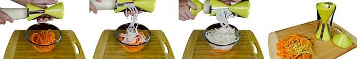 Brieftons NextGen Spiralizer: 4-Blade Vegetable Spiral Slicer
