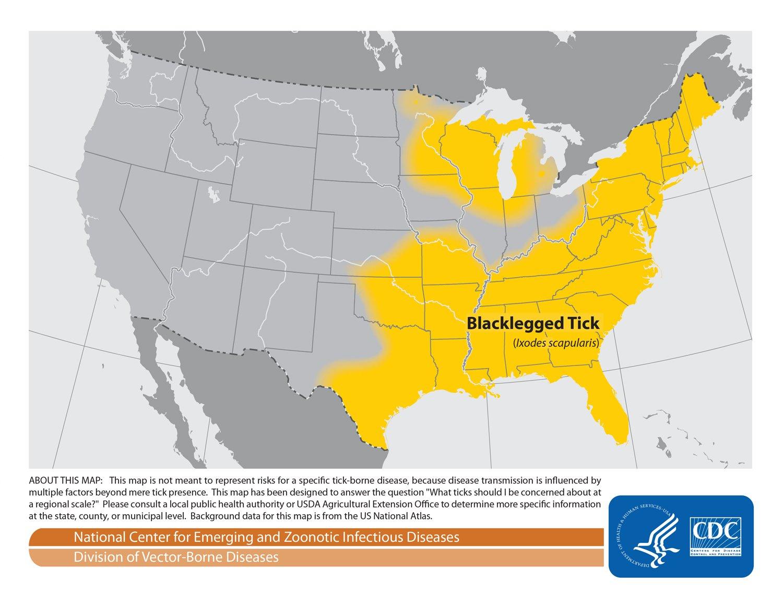 Blacklegged Tick Map