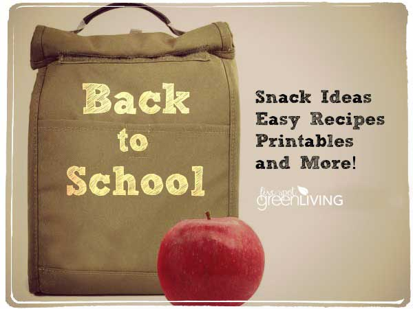 Back to School Organization Meal Idea List