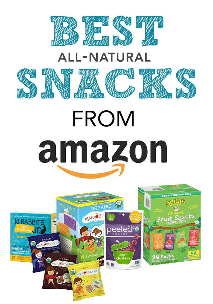 Best all-natural snacks on Amazon that even your 3rd grader will eat!