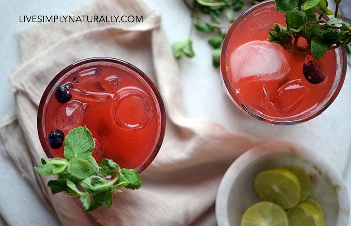 Homemade  Blueberry Lemonade Cooler Recipe