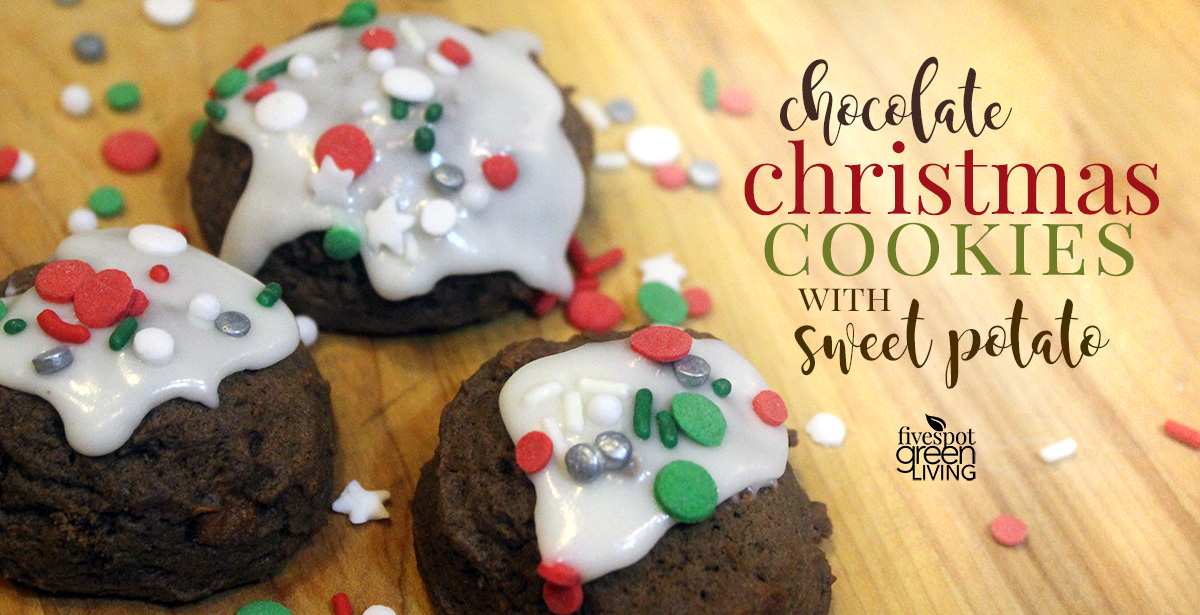 Festive Chocolate Christmas Cookies with Sweet Potatoes