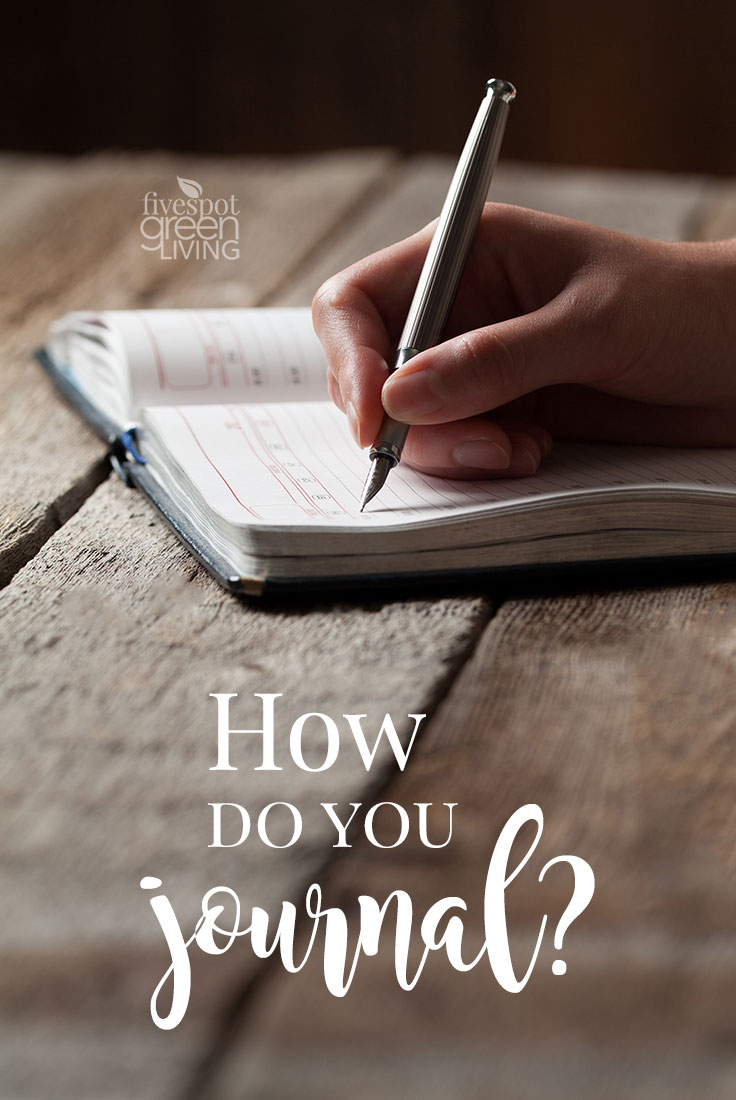 Choose Your Own Method of Journaling - there are so many different ways to use one!
