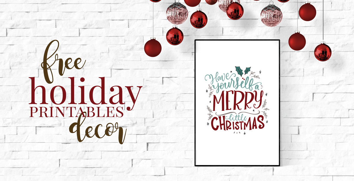 Free Farmhouse Christmas Printables