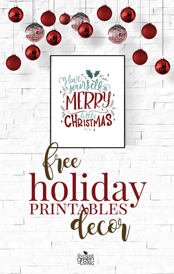 Free Farmhouse Christmas Printable