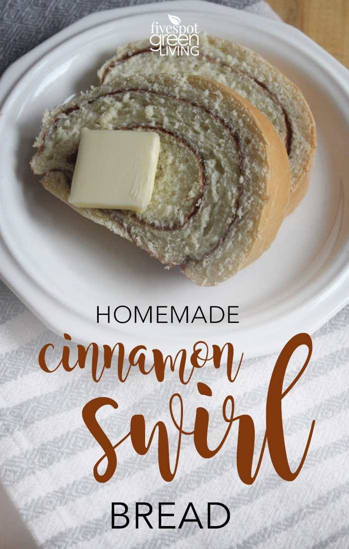 Easy Cinnamon Swirl Homemade Bread for your kids after-school healthy snack!