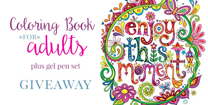 Coloring Book for Adults and Kids Giveaway Includes Markers