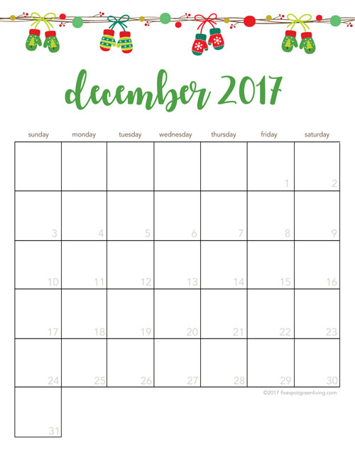 Christmas Activities for Kids Free Printable Calendar
