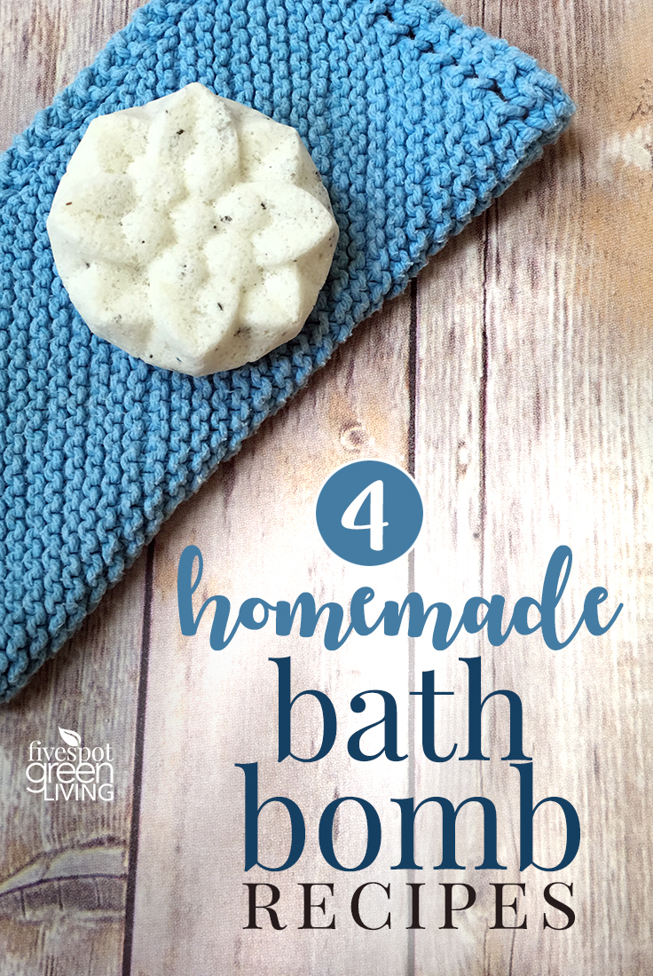 4 DIY Bath Bomb Recipe ideas for holiday gifts, birthday gifts or just for yourself. My kids love making bath bombs!