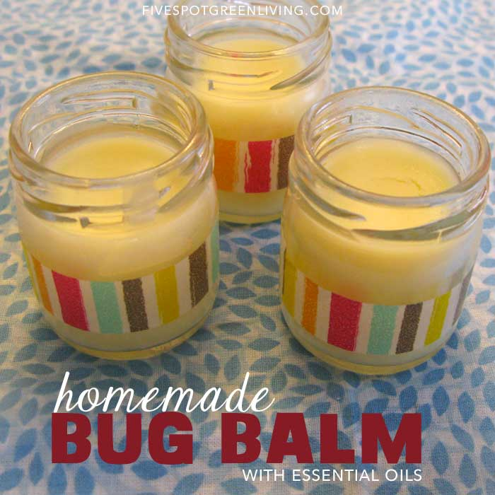 Homemade Bug Balm with Tea Tree Oil
