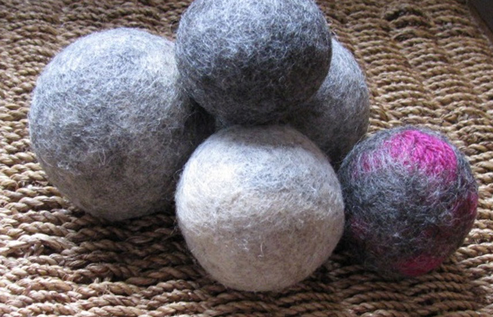 Felted Yarn Dryer Balls