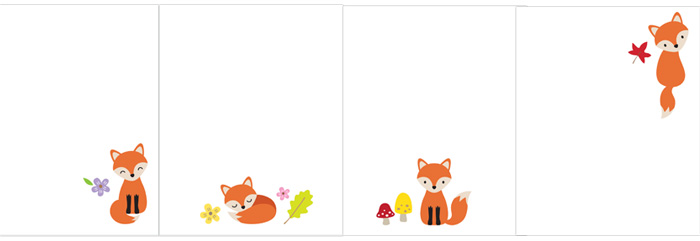 Fox Note Cards Stationery