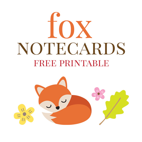 Fox Note Cards