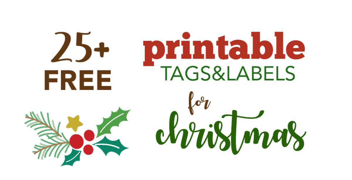 Free Printable Holiday Tags and Labels