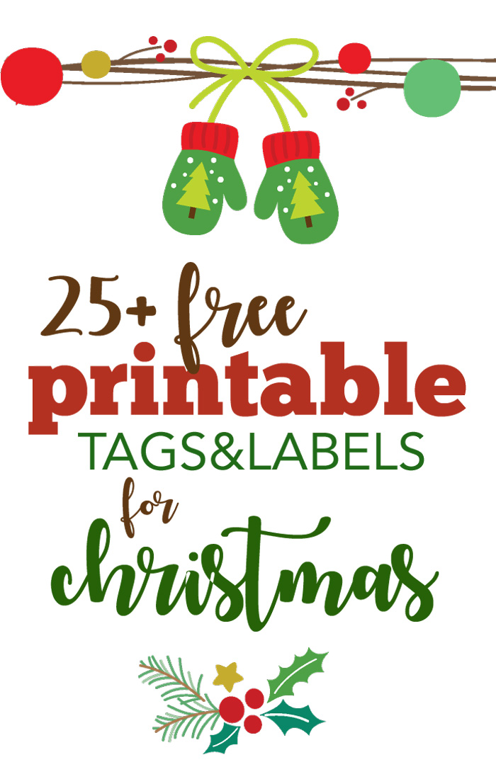 More than 25 Free Printable Christmas Gift Tags - Five Spot Green Living