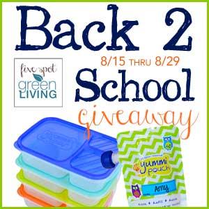 Eco-Friendly Reusable Yummi Pouch and Lunchbox Giveaway