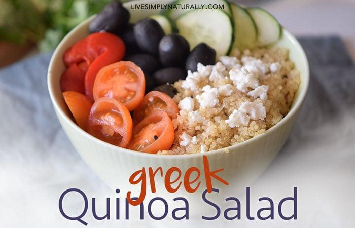 Healthy Greek Quinoa Salad Recipe
