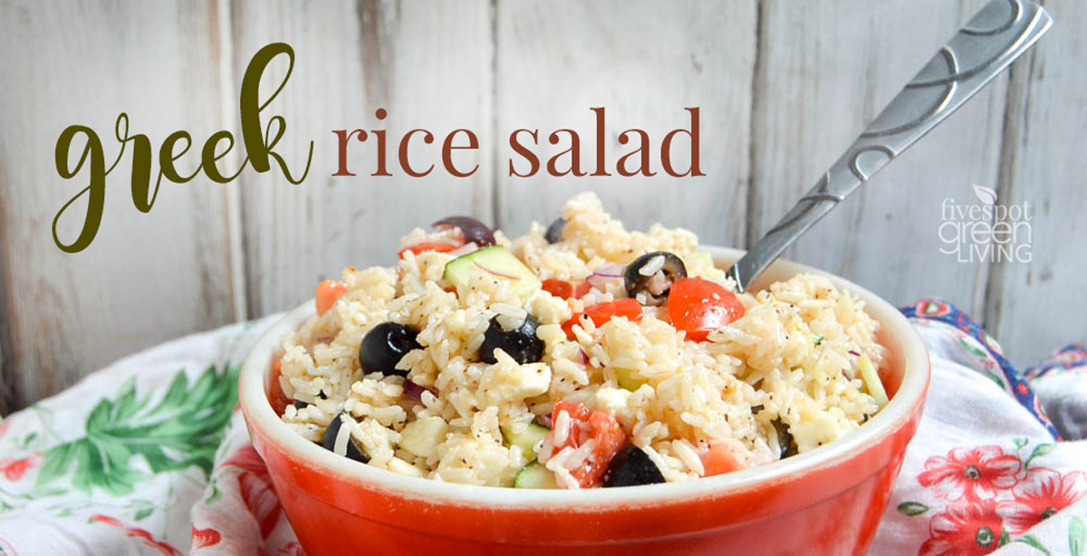 Healthy Greek Rice Salad Recipe for Easy Summer Meals