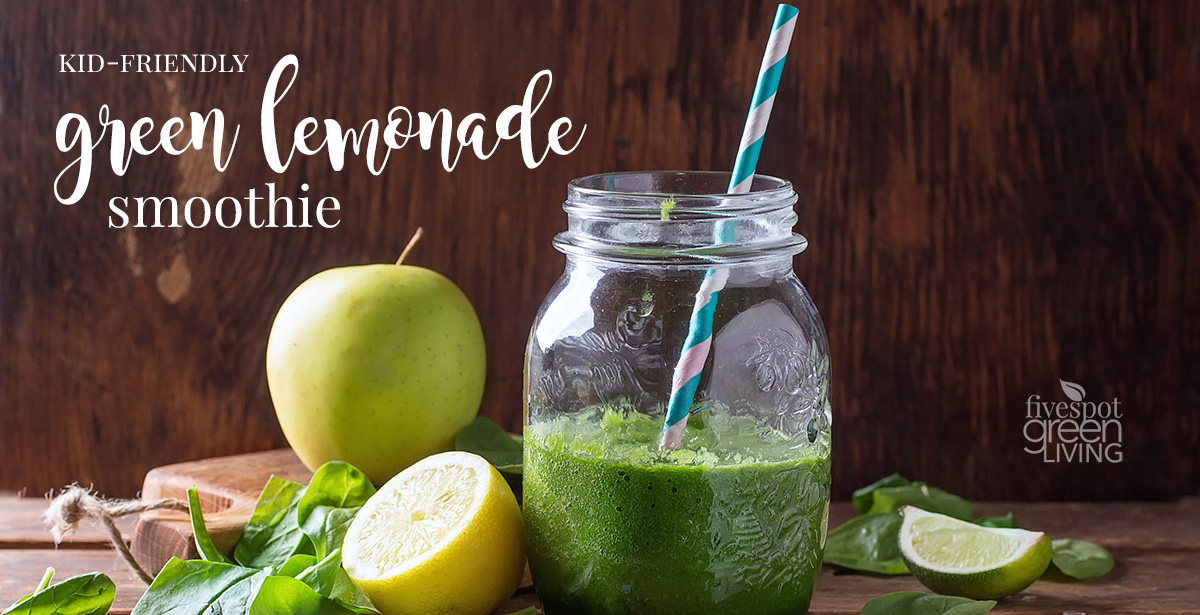 Kid Friendly Lemonade Green Smoothie