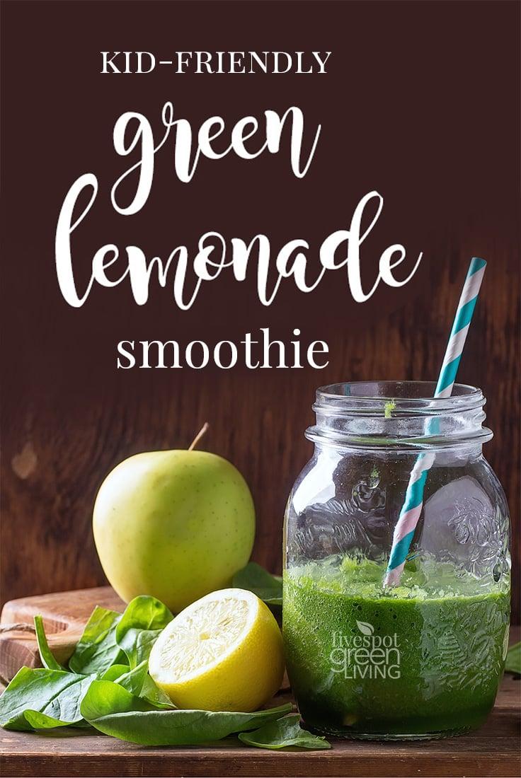 Kid-Friendly Green Lemonade Smoothie Recipe / This recipe tastes just like an icy, slushy lemonade made with apples and honey!