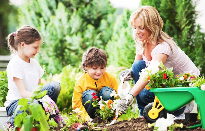 Teaching Kids How to Go Green Plant a Garden