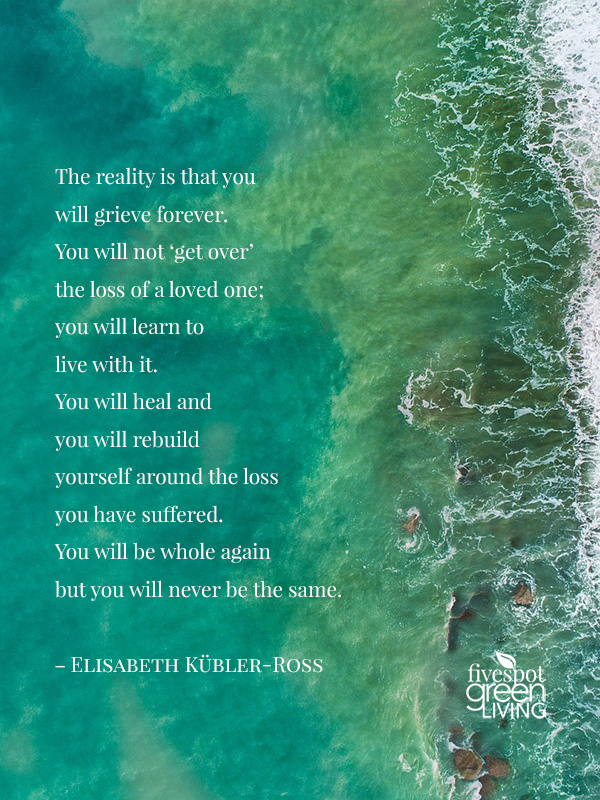 The reality is that you will grieve forever.