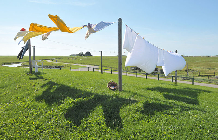 Clothes Hanging Outside
