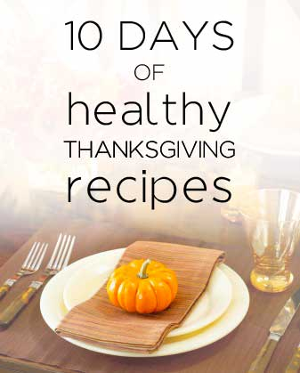 10 Days of Healthier Thanksgiving Recipes - Easy Apple Cinnamon Crisp