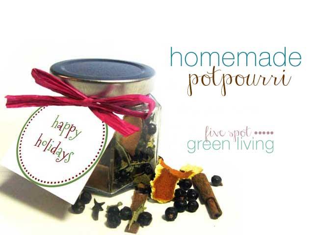 Homemade Christmas Gifts: Homemade Holiday Potpourri Recipes