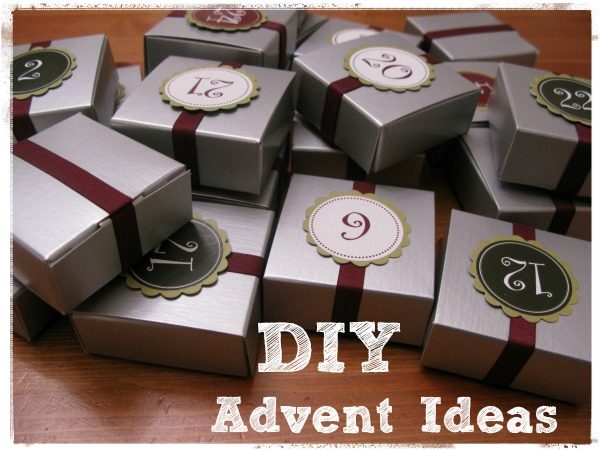 Silver gift boxes with ribbon DIY Advent Ideas