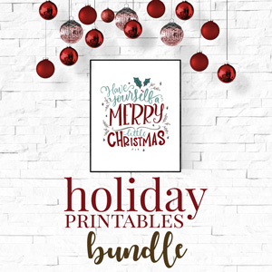 holiday printables bundle