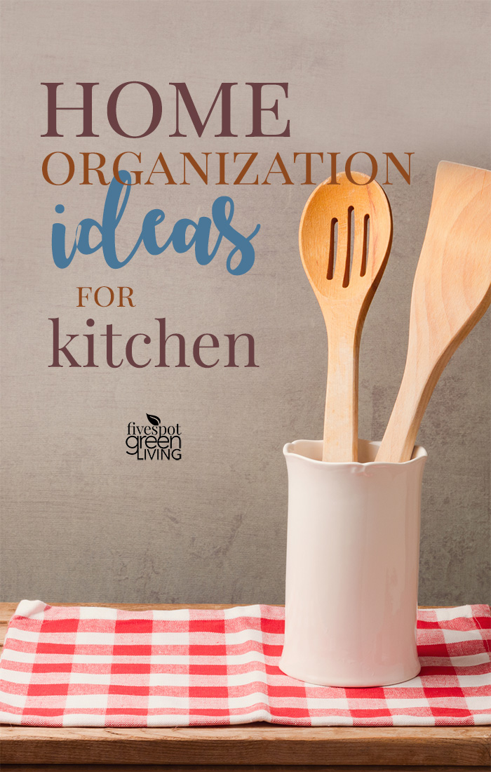 Home organization ideas for kitchen utensils and pots and pans