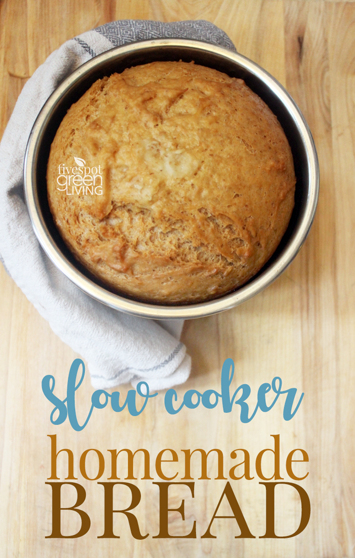 Easy Homemade Bread in the Slow Cooker perfect for hungry kids before dinner!