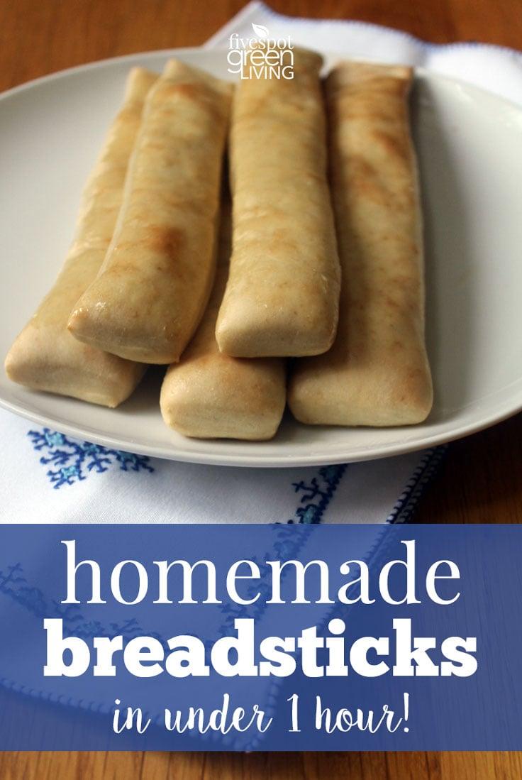 Easy Homemade Breadsticks in Under 1 Hour