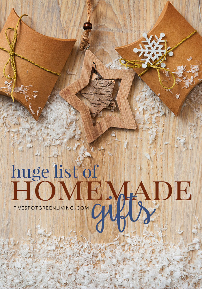 Huge list of homemade Christmas gift ideas, printables and activities