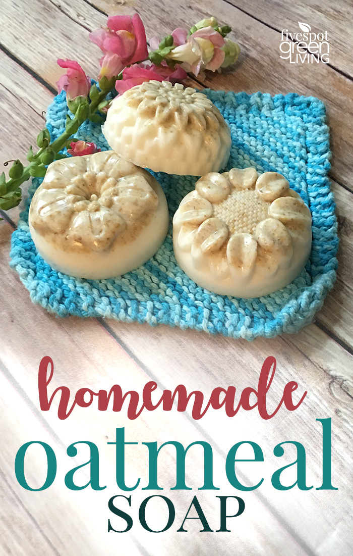 Homemade Colloidal Oatmeal Soap Recipe with Lavender is super quick and easy to make!