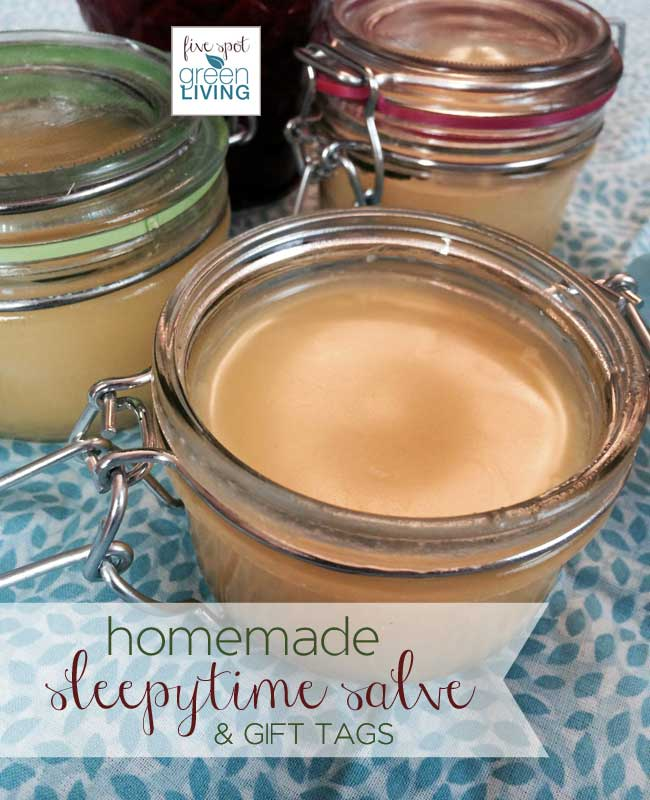 Homemade Sleepytime Salve with Essential Oils and FREE Printable Gift Tags