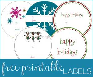 Holiday Christmas Gift Labels Round Up