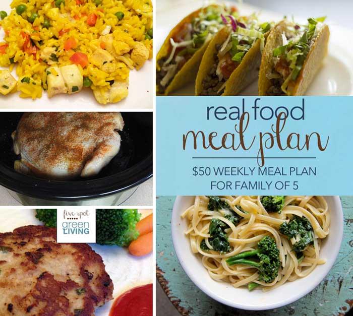 Real Food Weekly $50 Healthy Meal Plans - Volume 1