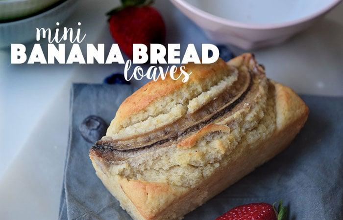 The Perfect Gift: Mini Banana Bread Recipe
