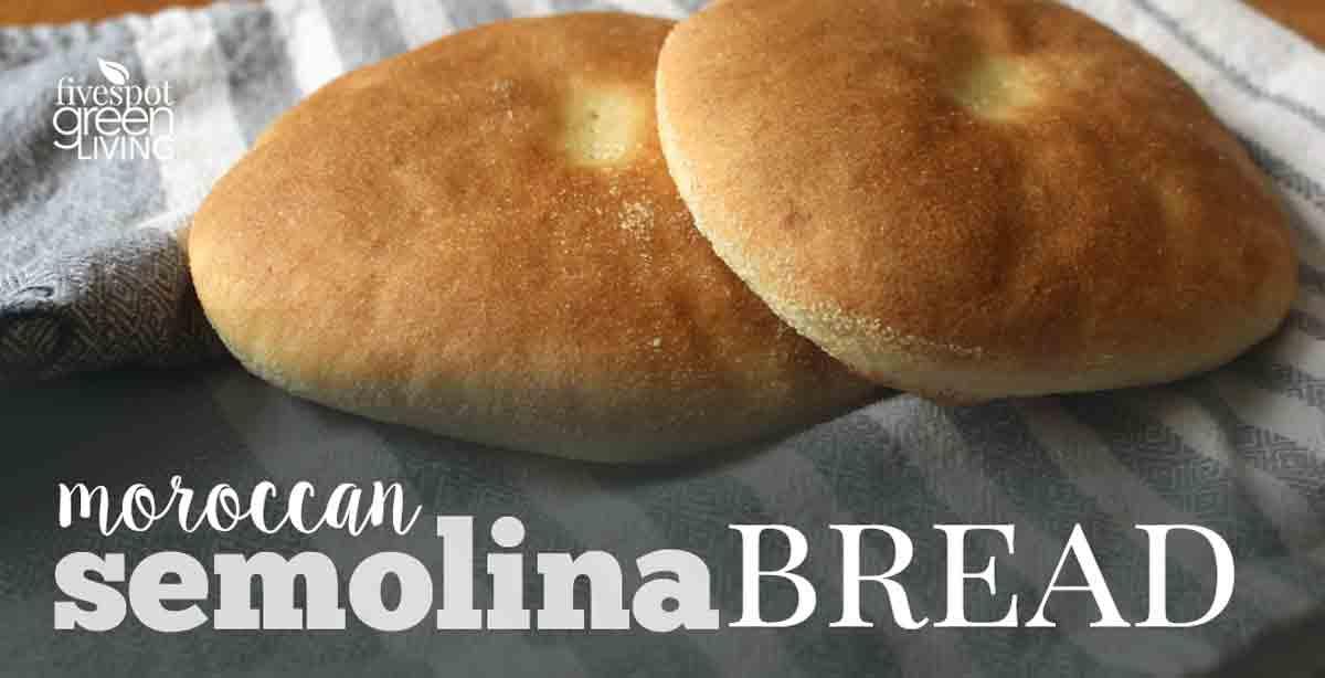 Moroccan Semolina Homemade Bread Recipe for Meals