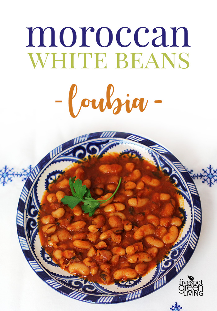 Moroccan White Beans Loubia