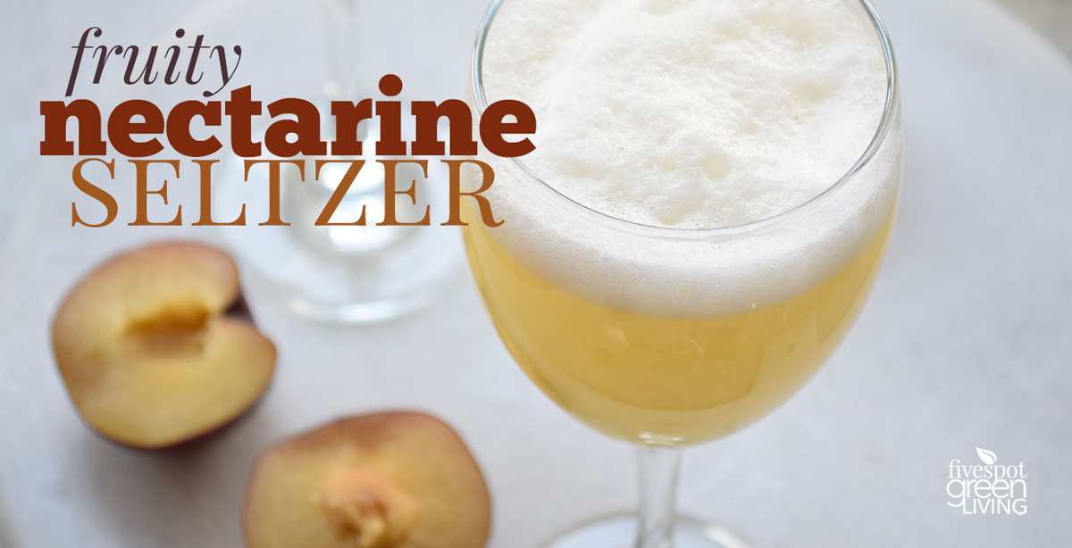 Fruity Nectarine Seltzer Drink