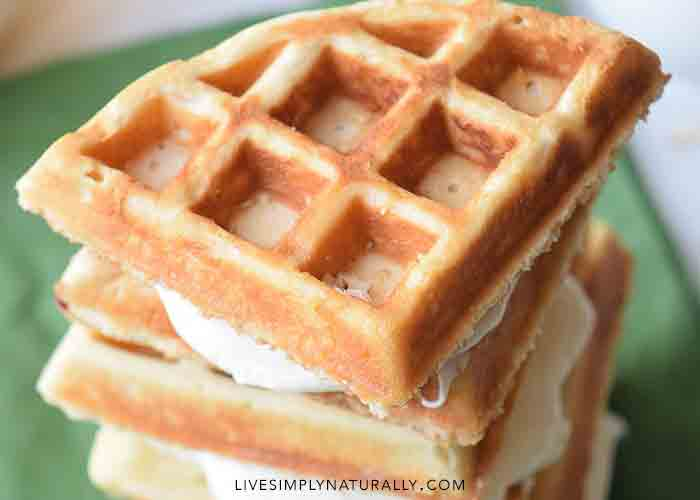 Easy Homemade Waffles with Orange Creme