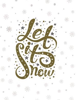 Let it Snow Christmas Printable