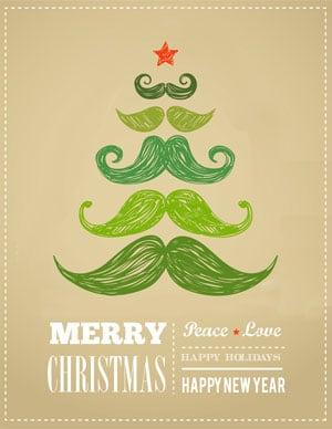 Mustache Christmas Printable