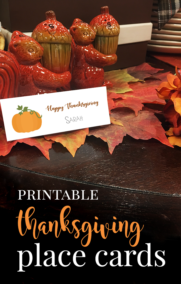 Thanksgiving Place Cards and Conversation Starters for