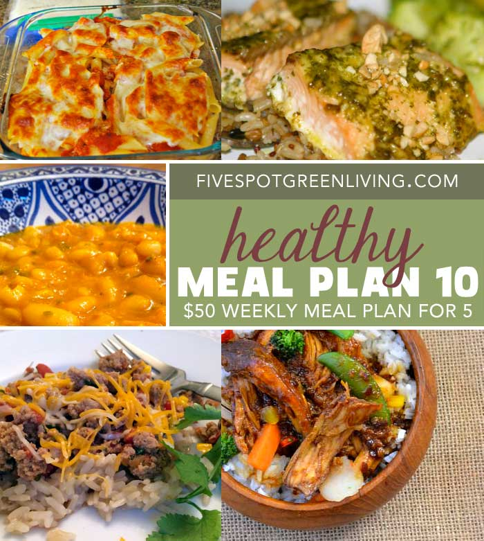 Healthy Meal Plans Under $50 Volume 10