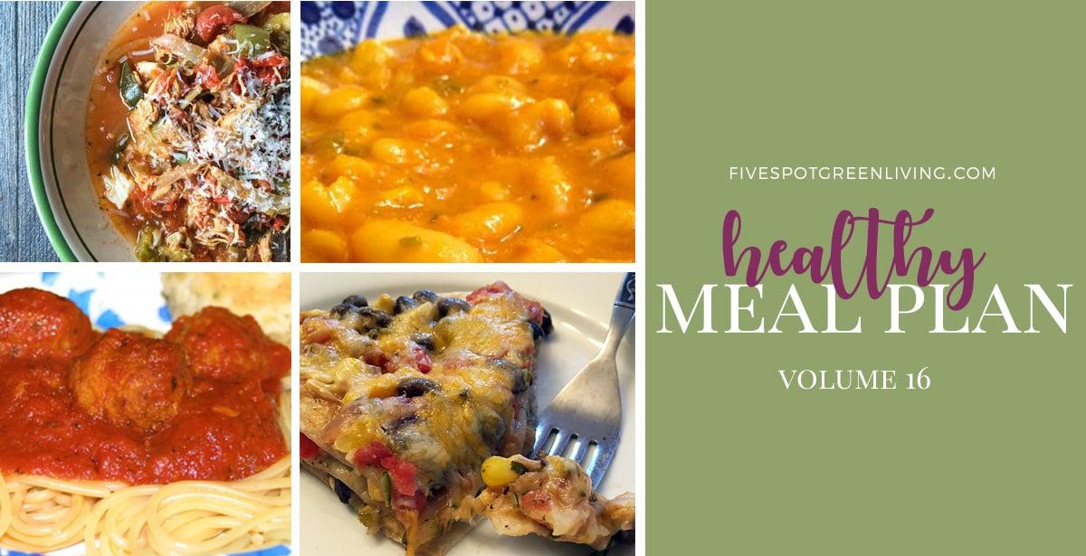 Healthy Meal Plan Weekly Volume 16