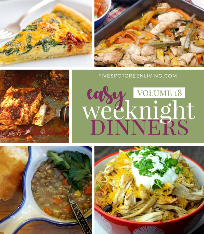 Easy Weeknight Dinners Meal Plan Volume 18